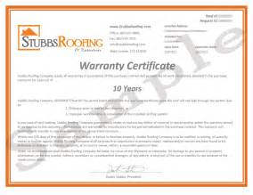 new roof warranty stubbs roofing tallahassee