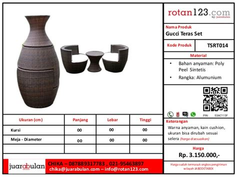 Harga Gucci Slides katalog terrace set rotan123