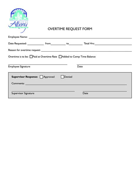overtime forms template best photos of request for overtime overtime request