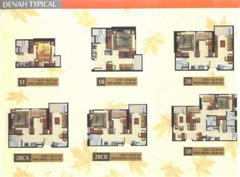 layout apartemen kalibata jual apartemen maple park jakarta studio 1br 2br 3br