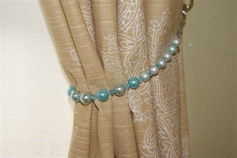 Turquoise Beaded Curtains 17 Best Images About Curtain Tie Back Ideas On Brooches Starfish And Beaded Curtains
