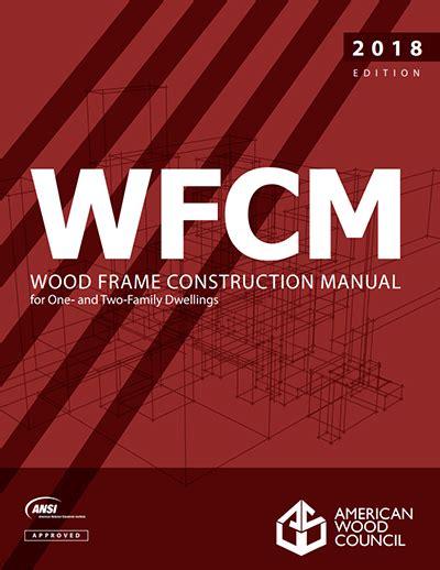 wood frame design manual publications