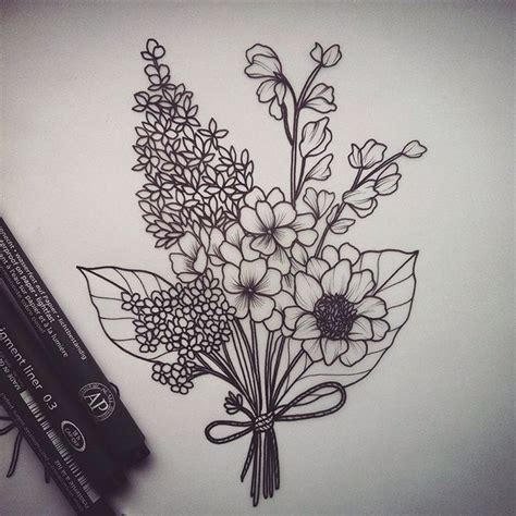 flower bouquet tattoo best 25 flower bouquet ideas on