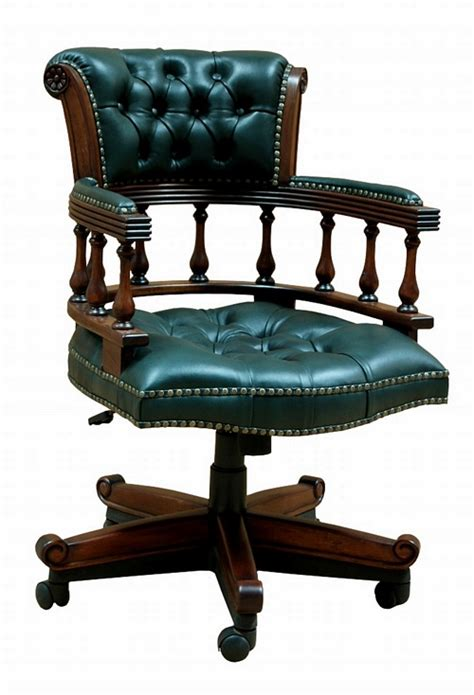 vintage green leather office chair the captain s chair green leather 163 429 00 office