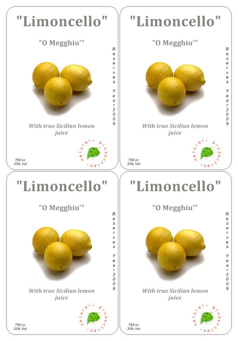 printable limoncello tags bottle labels template cake ideas and designs