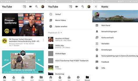 youtube app layout youtube neues app design scheint weiter verteilt zu werden