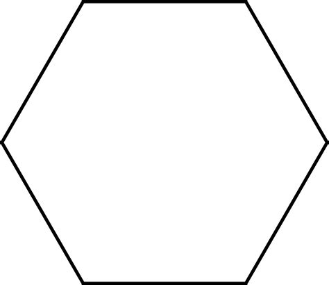 hexagonal template large hexagon for pattern block set clipart etc