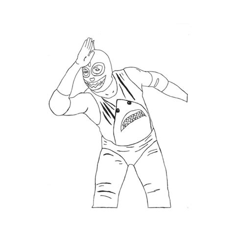 Pics For Gt How To Draw Wwe Sin Cara Mask Cara And Mysterio Coloring Pages