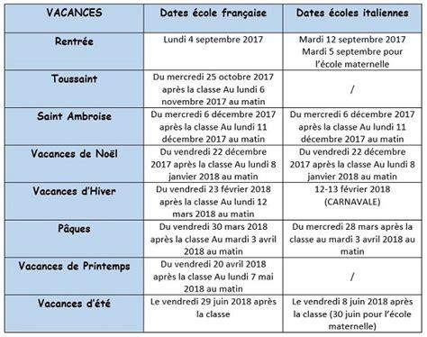 calendriers scolaires fran 231 ais et italien et jours f 233 ri 233 s