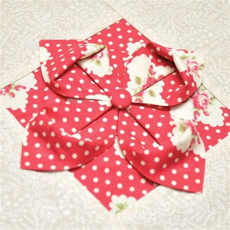 Origami Fabric Flowers - 17 best ideas about fabric origami on fabric