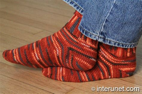 crochet pattern mens socks crochet socks easy to follow stitch interunet