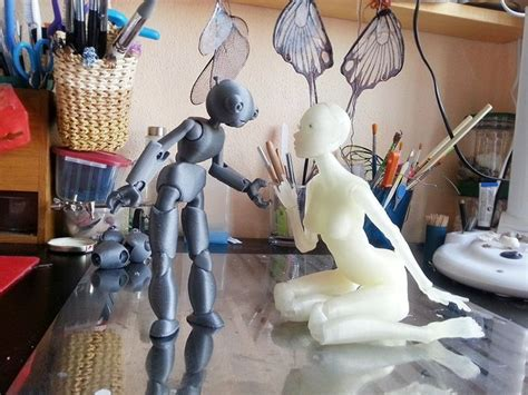 jointed doll robot 3d printed jointed robot by verdu pinshape