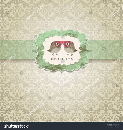 vintage wedding card background images wedding invitation card vintage ornament stock vector 78757240