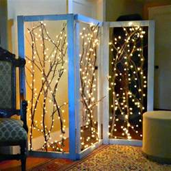 decorate with lights montano twinkling branches room divider diy