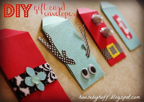 Diy Gift Card Envelope - diy gift card envelopes house by hoff
