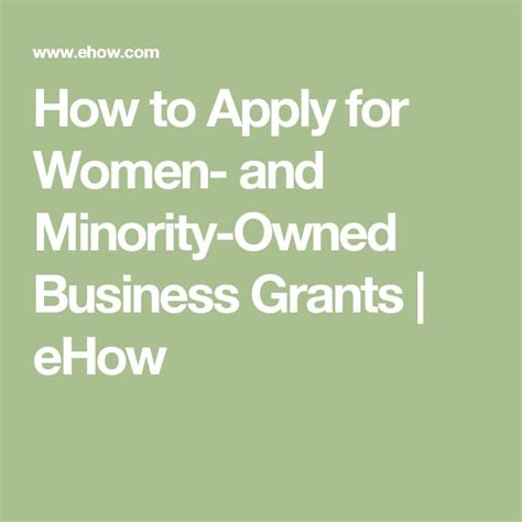 Opportunities For And Minority Run Businesses by Best 25 Business Grants Ideas On Small
