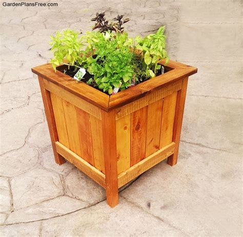 planter box diy diy cedar planter box free garden plans how to build garden projects
