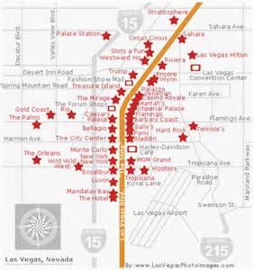 Las Vegas Casino Map by Map Of Las Vegas Strip