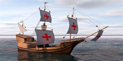 3d boat bateau caravelle 3d library