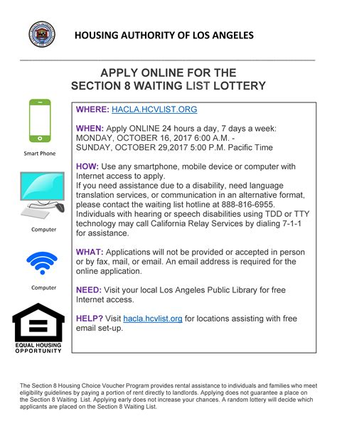 apply for section 8 application online apply online for the section 8 waiting list lottery