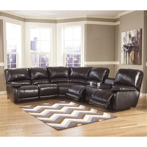 ashley furniture reclining sectional signature design by ashley capote durablend 174 power