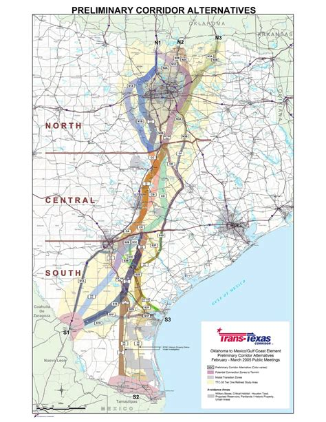 trans texas corridor map ok safe ok safe source documents