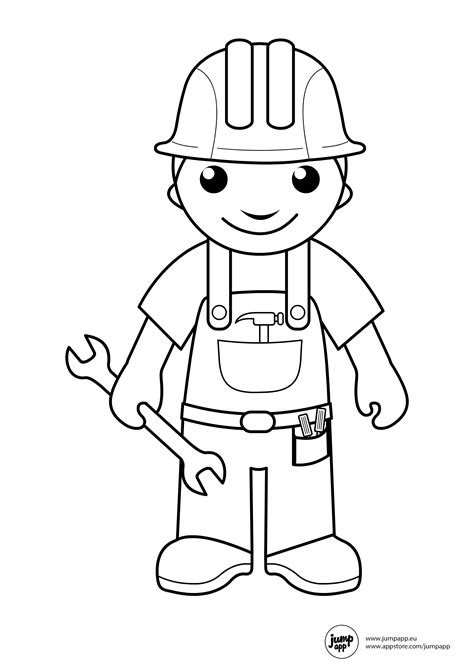 coloring pages community helpers preschool builder printable coloring pages pinterest community