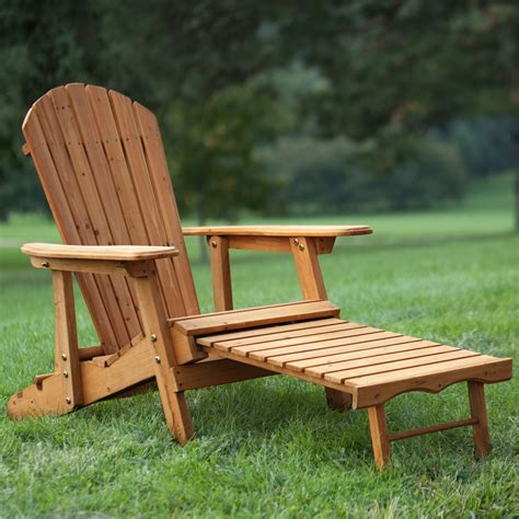 coral coast big daddy reclining tall wood adirondack chair  pull  ottoman adirondack