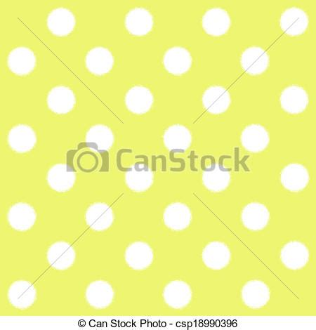 painted white polka dot on painted white polka dot on yellow graphic instant