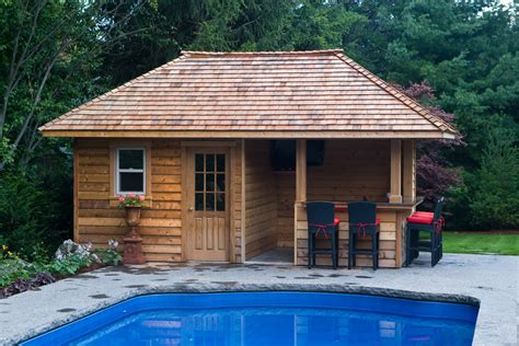 backyard pool houses pool shed with bar plans how to build a slanted shed roof