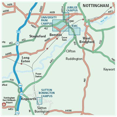 map and directions maps and directions the of nottingham