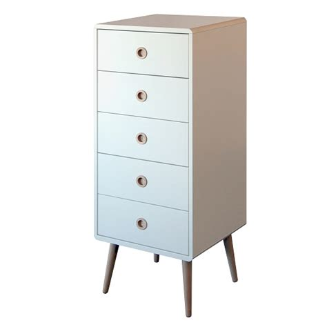 Kommode 40 Tief by Walton Chest Of Drawers In White With Oak Legs And 5