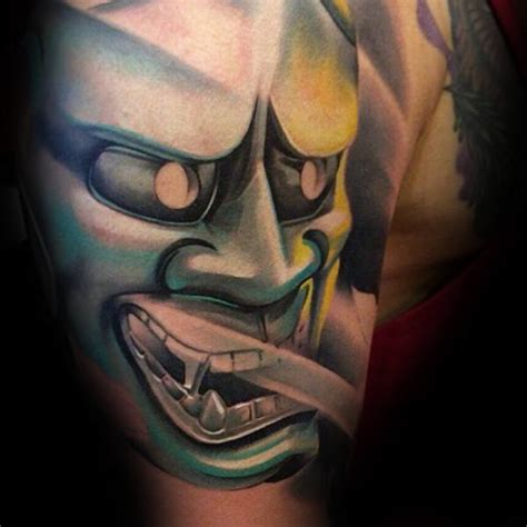 mask tattoos for men 100 hannya mask designs for japanese ink ideas