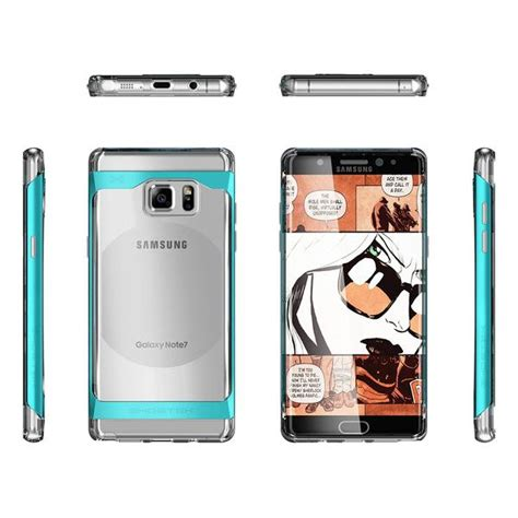 Invisible Armor Tpu Screen Guard Samsung Galaxy S8 galaxy note 7 ghostek 174 2 0 teal series w explosion proof screen