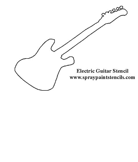 electric guitar templates electric guitar stencil