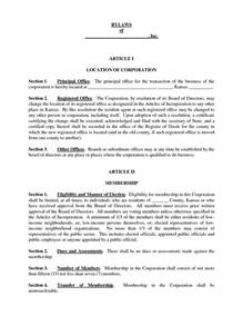 Bylaws Template For Corporation by Condominium Bylaws And Templates Templates And Sles