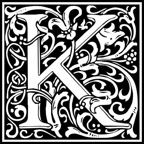 design art k k clipart william morris letter k