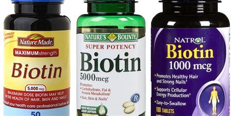 Suplemen Biotin Dosis Suplemen Biotin Untuk Pertumbuhan Kesehatan Rambut