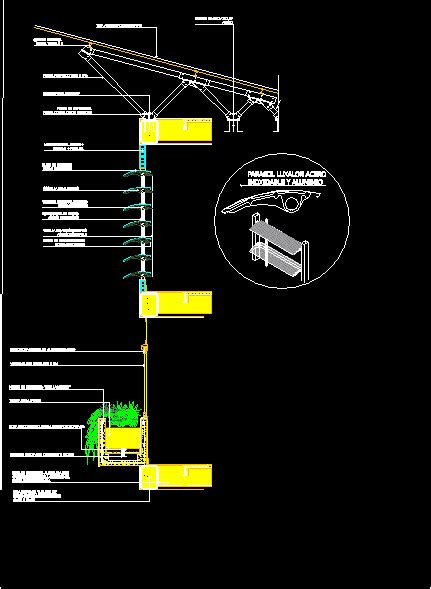 awning louvered window shades  planter box dwg plan