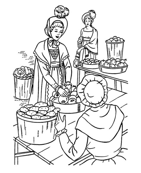 usa printables early american society coloring pages