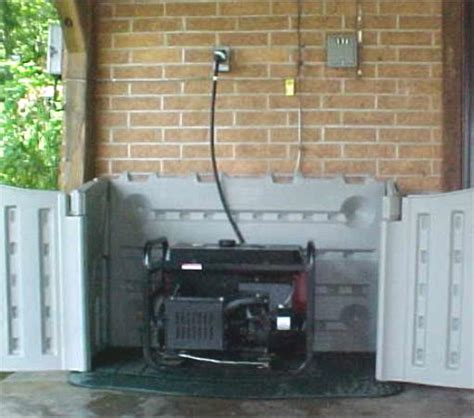 generator enclosure on sheds firearms and outdoor