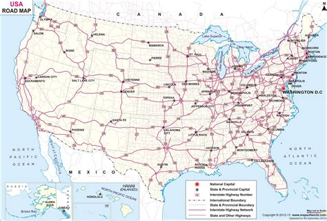 united states map with highways and cities best photos of free printable us road map printable