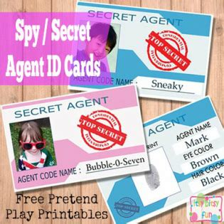 secret id card template free printable licenses and id cards for itsy bitsy