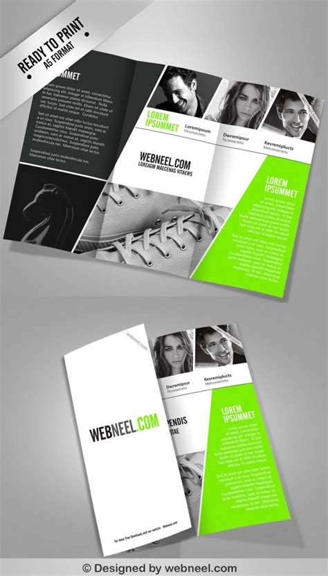 brochure templates design 15 free corporate bifold and trifold brochure templates