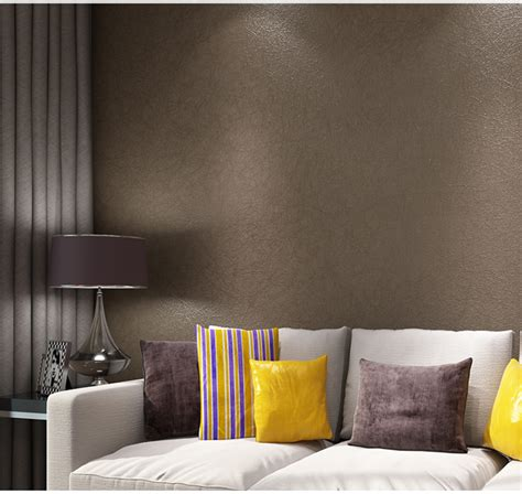 Silks Room by Haokhome Solid Color Non Woven Wallpaper Light Brown