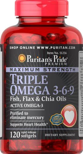 Puritan S Pride Maximum Strength Omega 3 6 9 2 Murah puritan s pride maximum strength omega 3 6 9 fish flax chia oils 120 softgels buy