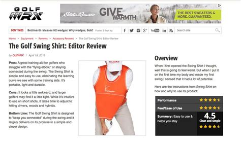 golf swing shirt review golf training aids the golf swing shirt reviewed best