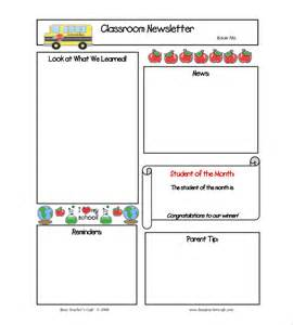 Templates For Teachers 9 monthly newsletter templates free sle exle
