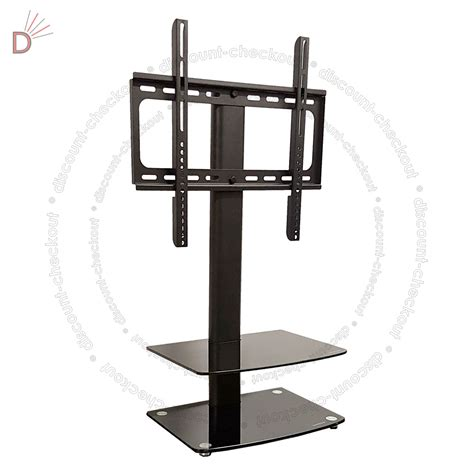 vesa mount for glass desk universal table top tv stand dvd bracket glass pedestal
