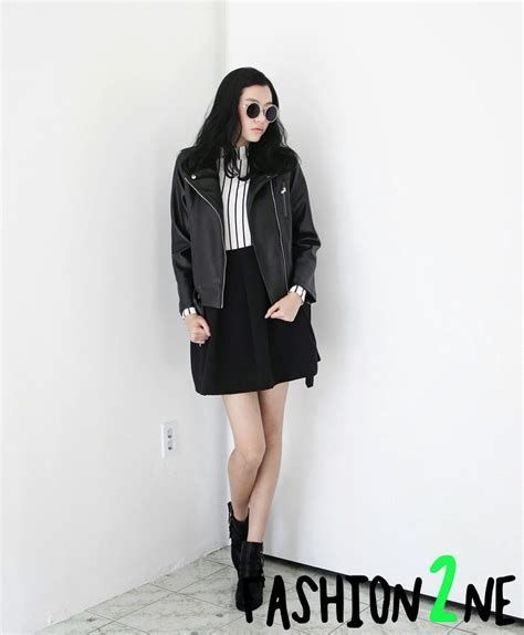 Situs Fashion Korean Style Comby Leather Shirt korea s fashion unique and trendy korean fashion website fashiontoany